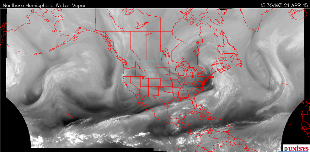 Tues AM Water Vapor Imagery
