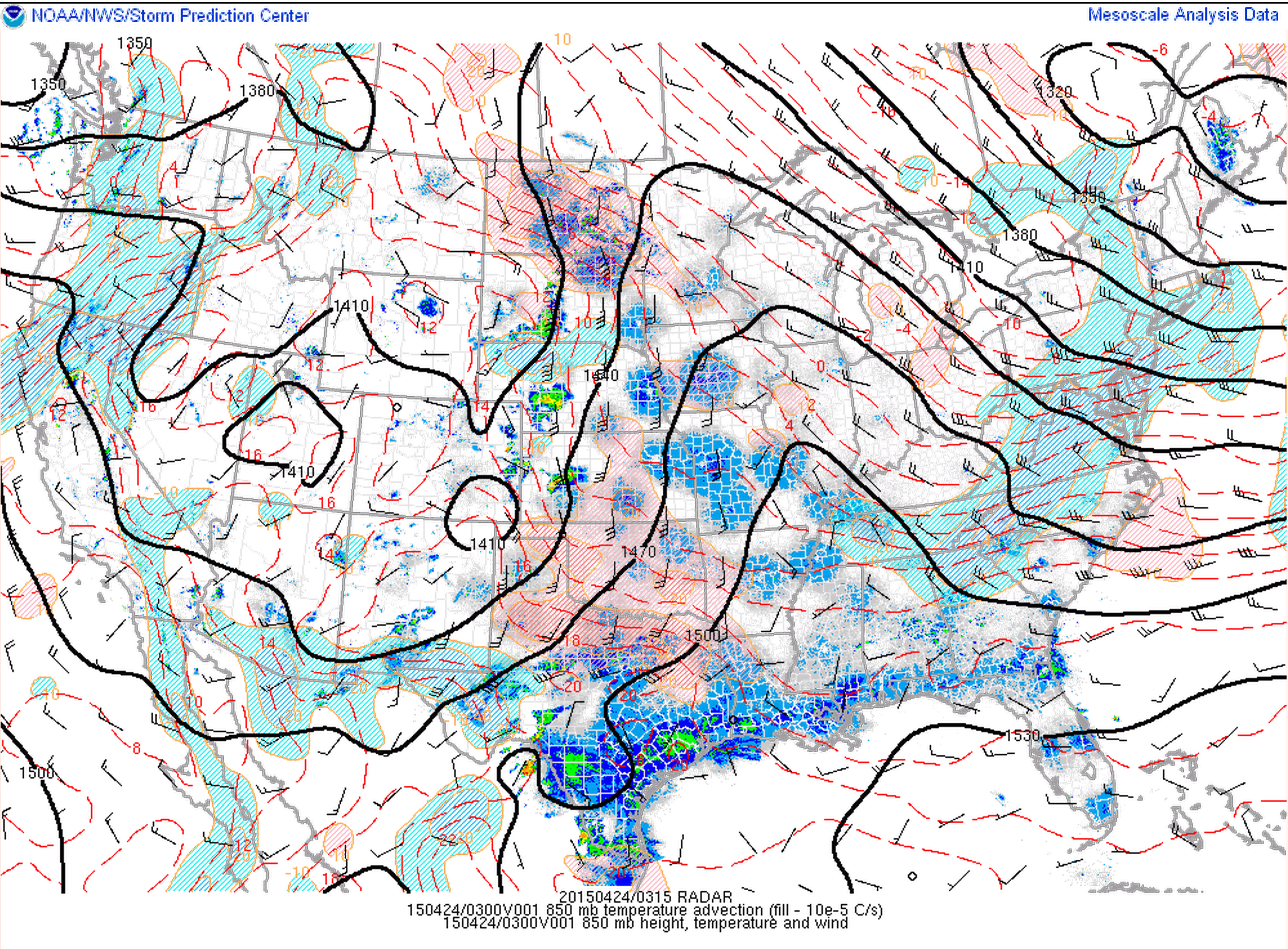 850 Warm Air Advection